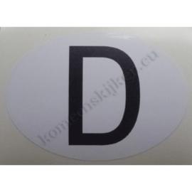 sticker ovaal duitsland 9 bij 6,5 cm