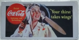 coca cola your thirst takes wings 25-49,5 cm