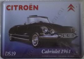metalen reclame citroën DS19 cabriolet 20-30 cm