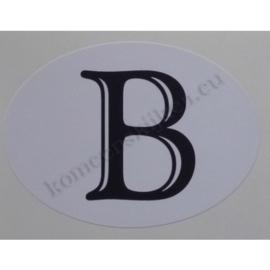 sticker ovaal België klassiek 9 bij 6,5 cm