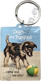 metalen sleutelhanger dogs