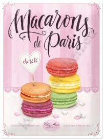 metalen wandbord Macarons de Paris 30-40 CM