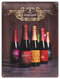 metalen reclamebord Lindemans lambic beers 30x40 cm