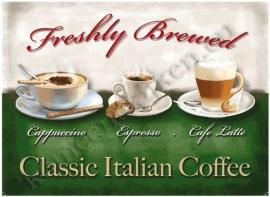 metalen wandplaat classic italian coffee 30-40 cm