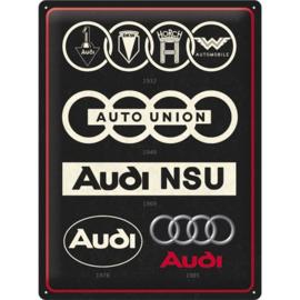 blikken wandbord Audi Logo Evolution 30 x 40 cm