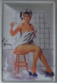 metalen wandplaat pin up badkamer 20-30 cm