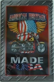metalen wandplaat american heritage, Made in the USA 20-30 cm