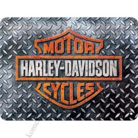 blikken wandplaat Harley Davidson traanplaat 15x20 cm