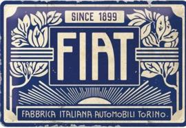 Metalen wandbord Fiat since 1899  20x30 cm