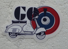 go! mods sticker vespa