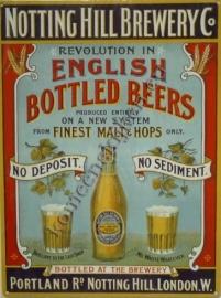 metalen reclameplaat notting hill brewery 30-40 cm