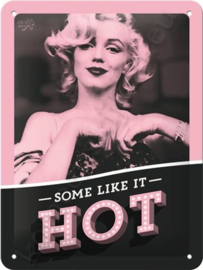 metal sign marilyn monroe Some like it hot 15x20