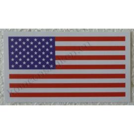 sticker amerikaanse vlag / usa 10,5 cm