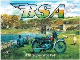 blikken wandplaat BSA A10 super rocket 30-40 cm