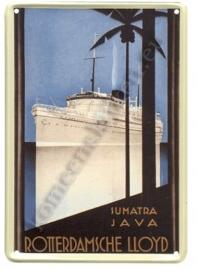 metalen ansichtkaart sumatra / java 10-14 cm