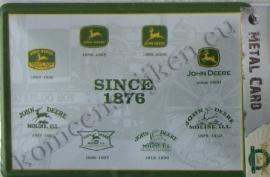 metalen ansichtkaart john deere alle logo`s 10-14 cm