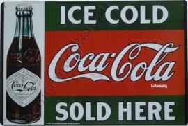 coca cola old bottle 29,5-44,5 cm