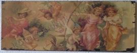 wandplaat engeltjes tafreel 39,5 - 15 cm