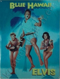 metalen affiche Elvis Blue Hawaii 30x40 cm