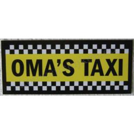 sticker oma`s taxi 11 cm.