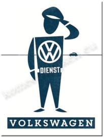 koelkastmagneet VW volkswagen dienst mann