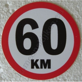 sticker 60 km 7,5 cm