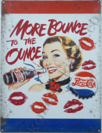 blikken muurbord more bounce to the ounce pepsi cola 30-40 cm