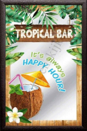 Barspiegel tropical bar, happy hour