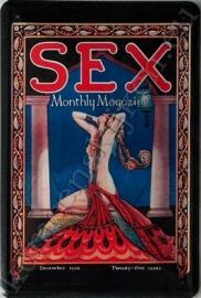 blikken reclamebord sex monthly magazine 20-30 cm