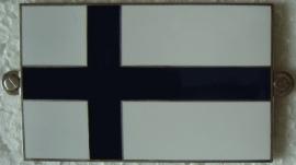 Metalen Finse vlag / Finland