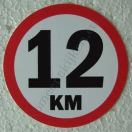 sticker 12 km 7,5 cm