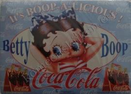 koelkastmagneet betty boop blauw / coca cola