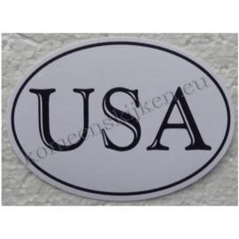 ovale sticker met de tekst USA (klassiek)