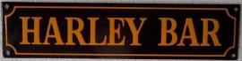 emaille straatnaambord harley bar / zwart-oranje