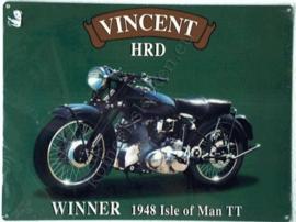 metalen reclamebord Vincent 30x40 cm