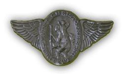 badge beschermheilige christoffel met vleugels