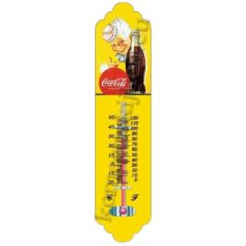 thermometer van blik Coca Cola jongen