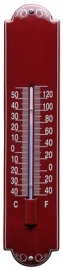 emaille thermometer deco bordeaux