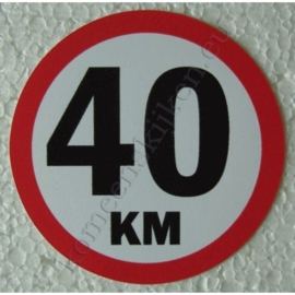 sticker 40 km 7,5 cm
