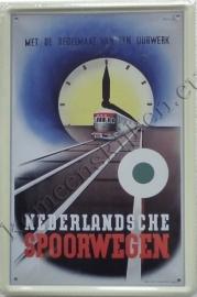 blikken reclamebord NS uurwerk 20-30 cm