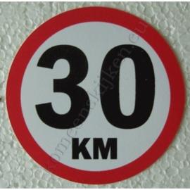 sticker 30 km 7,5 cm
