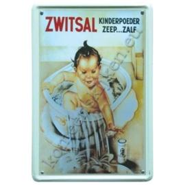blikken reclameplaat Zwitsal 30-40 cm