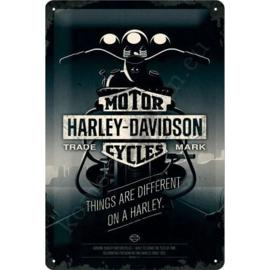 wandbord harley davidson things are different 20-30 cm