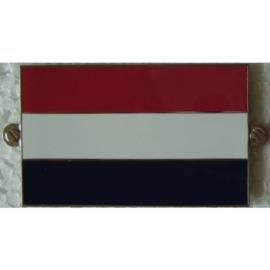 metalen nederlandse plakvlag