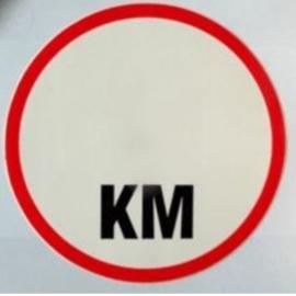 sticker zonder km 17 cm