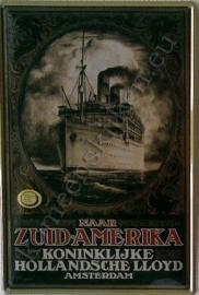 reclamebord hollandsche lloyd / zuid america 20-30 cm