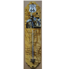 metalen thermometer route 66