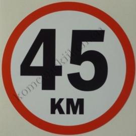 sticker 45 km / kilometer 11 cm.