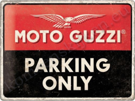 metalen reclamebord Moto guzzi parking only 30-40 cm