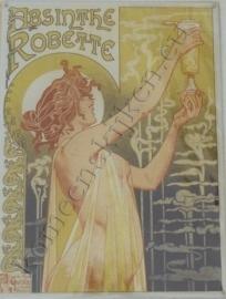 metalen reclameplaat absinth robette 30-40 cm